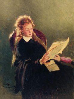 Girl Reading | Ilia Efimovich Repin | Oil Painting