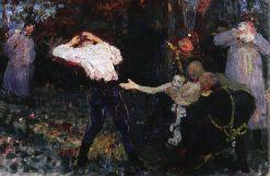 The Duel (study) | Ilia Efimovich Repin | Oil Painting