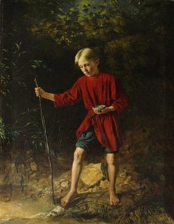 Boy with a Birds Nest | Vasily Pukirev | Oil Painting