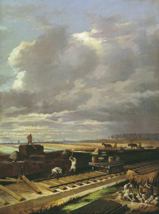 Railroad Builders | Vasily Pukirev | Oil Painting