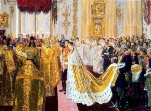 Wedding of Nicholas II and Alexandra Feodorovna | Laurits Tuxen | Oil Painting