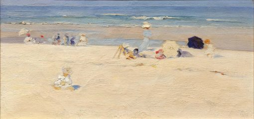 Beach Scene | Elizabeth Wentworth Roberts | Oil Painting
