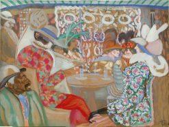 Parisian Cafe | Boris Grigoriev | Oil Painting