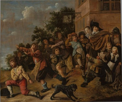 Children Teasing Dwarves | Jan Miense Molenaer | Oil Painting