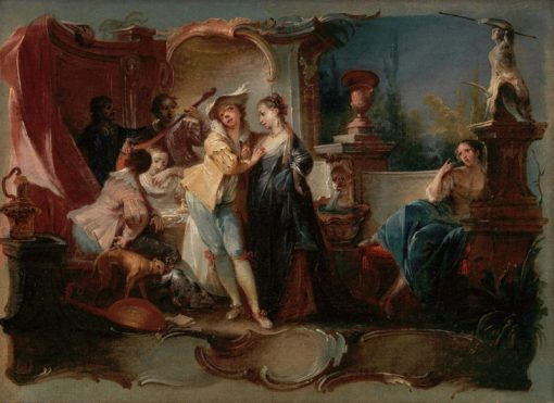 The Prodigal Son Living with Harlots | Johann Wolfgang Baumgartner | Oil Painting