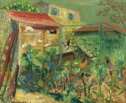 Farm Scene | Boris Grigoriev | Oil Painting