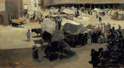 Market in Santa Coloma de Queralt | Jaime Morera y Galicia | Oil Painting