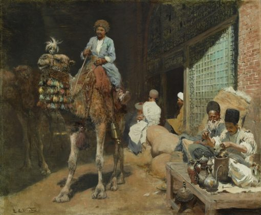 A Market in Isfahan | Edwin Lord Weeks | Oil Painting