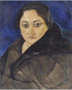 Lady with dark eyes | Boris Grigoriev | Oil Painting