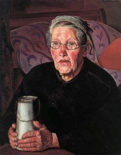 Old woman from Bretagne | Boris Grigoriev | Oil Painting