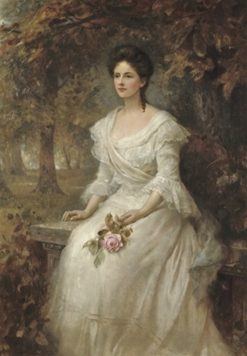 Portrait of a Lady | Edward Hughes | Oil Painting