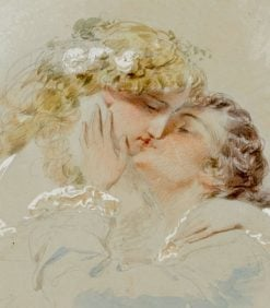 The Kiss | Mihály Zichy | Oil Painting