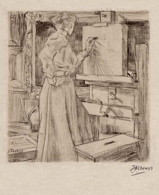 In the Studio | Jan Toorop | Oil Painting