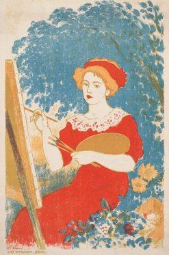 Aline au Chevalet | Georges Lemmen | Oil Painting