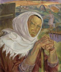 Peasant Woman | Boris Grigoriev | Oil Painting