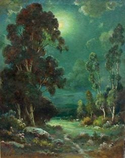 Moonlit Valley | Alexis Matthew Podchernikoff | Oil Painting