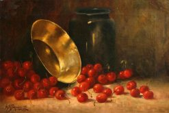 Still Life with Cherries | Alexis Matthew Podchernikoff | Oil Painting