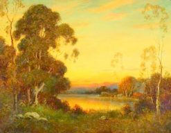 Lake at Sunset | Alexis Matthew Podchernikoff | Oil Painting