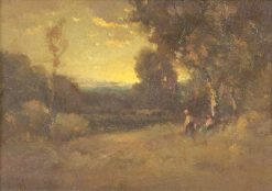Pastoral Landscape with Two Figures | Alexis Matthew Podchernikoff | Oil Painting