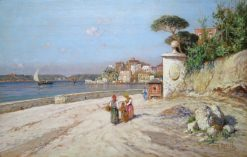 On the Italian Coast | Giuseppe Carelli | Oil Painting