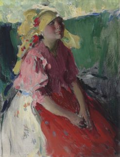 Young Peasant Woman | Abram Efimovich Arkhipov | Oil Painting