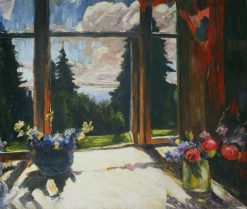 Flowers on Veranda | Abram Efimovich Arkhipov | Oil Painting