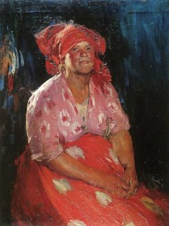 Woman in Pink | Abram Efimovich Arkhipov | Oil Painting