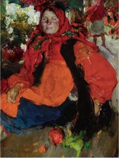 Portrait of a Russian Peasant Girl | Abram Efimovich Arkhipov | Oil Painting