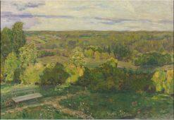 Demyanovo. View from the Dacha Terrace   Apollinari Vasnetsov   Oil Painting