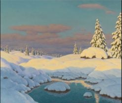 Winter Landscape | Ivan Fedorovich Choultse | Oil Painting