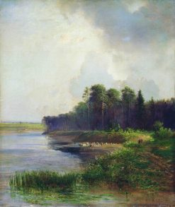 River Bank | Alexei Kondratyevich Savrasov | Oil Painting