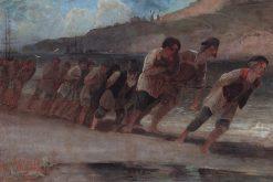 Barge Haulers | Alexei Kondratyevich Savrasov | Oil Painting