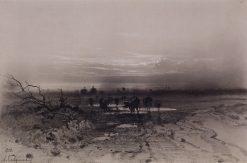 Evening. Moonrise | Alexei Kondratyevich Savrasov | Oil Painting