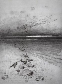 Field with Crows | Alexei Kondratyevich Savrasov | Oil Painting
