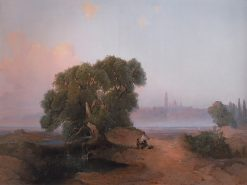 A View of Kiev | Alexei Kondratyevich Savrasov | Oil Painting