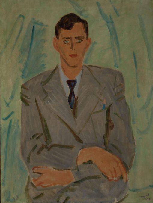 Portrait of F.F. Bernstam   Vladimir Grinberg   Oil Painting