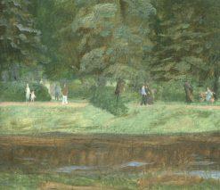 In the Park   Vladimir Grinberg   Oil Painting