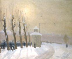 Winter in Leningrad   Vladimir Grinberg   Oil Painting