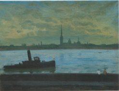 White Night on the Neva | Vladimir Grinberg | Oil Painting