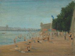 Beach in Leningrad | Vladimir Grinberg | Oil Painting