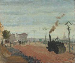 Asphalting the Embankment | Vladimir Grinberg | Oil Painting