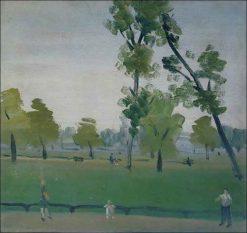 Scene in the Park   Vladimir Grinberg   Oil Painting