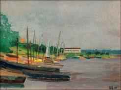 The Yacht Club   Vladimir Grinberg   Oil Painting