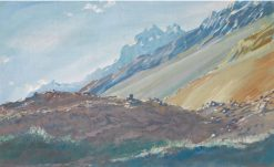 The Foothills of the Karakoram Mountains | Alexander Evgenievich Yakovlev | Oil Painting