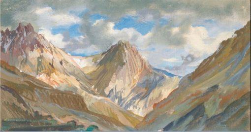 View of of the Karakoram Mountain Range | Alexander Evgenievich Yakovlev | Oil Painting