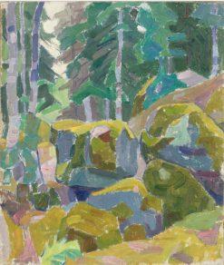 Landscape with Trees | Alexander Bogomazov | Oil Painting