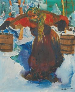 Russian Woman Carrying Water | Filipp Andreevich Maliavin | Oil Painting