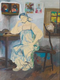 Seated Woman in an Interior | Filipp Andreevich Maliavin | Oil Painting