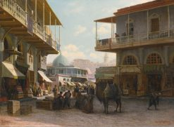 View of Tiflis | Piotr Petrovitsch Veretschchagin | Oil Painting