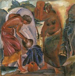 Girls at the Fountain | Alexei Kravchenko | Oil Painting
